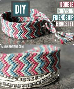 Diy Double Chevron Friendship Bracelet | Handmade Jade