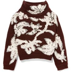 Brunello Cucinelli Floral-Embroidered Cropped Cashmere Sweater found on Polyvore featuring tops, sweaters, jumper, brown crop top, crop top, cropped cashmere sweater, brown sweater and turtle neck sweater