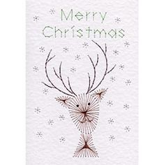 Cute Reindeer Christmas | Christmas patterns at Stitching Cards.