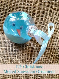 12 Days of DIY Christmas Ornaments: Melted Snowman Homemade Ornament for Christmas Decor