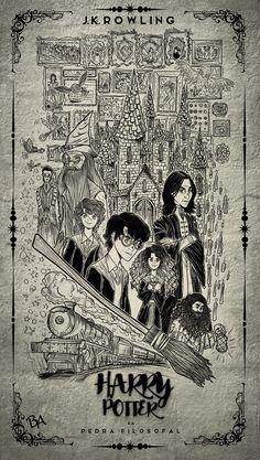 Harry Potter e a Pedra Filosofal #harrypotter #cover #jkrowling #philosophersstone