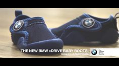 BMW has introduced xDrive Baby Boots for April The boots enable perfect weight distribution for the baby. Bmw Xdrive, Car Jokes, Tv Adverts, Uk Tv, New Bmw, April Fools Day, Baby Boots, Product Launch, Sneakers Nike