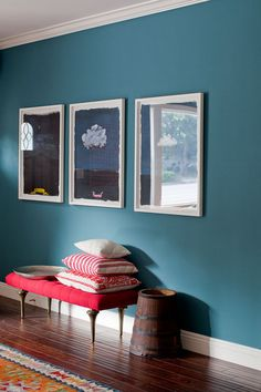 wall color teal