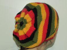 All Wool Rasta Beanie by loopandstitch on Etsy - 50cm; Kids