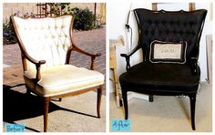 painting furniture before & after pics | ... Simply Spray Soft Fabric 1 can Simply Spray Stencil Paint paint
