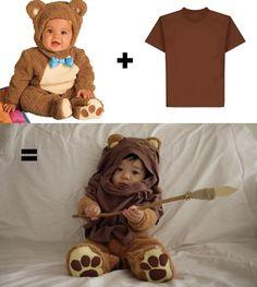 Baby Ewok costume. #Baby #Halloween #Costumes   Click Pick for 27 DIY Halloween Costumes for Kids to Make