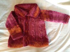 SOLO TEJIDOS: Chaleco trenzas lana niña, sweater braided kid wool