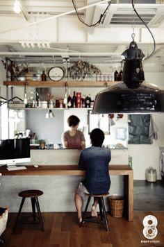 寿司屋のカウンターをリメイクして吊り棚と|HouseNote(ハウスノート)
