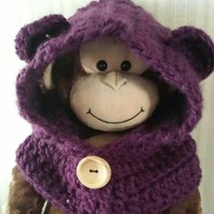 Hooded Bear Cowl www.motherly-love.com