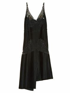 Lace and pleated-satin dress | Stella McCartney | MATCHESFASHION.COM UK