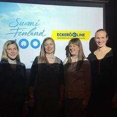 Hurmaava kohtaaminen Sherry lips -yhtyeen kanssa! Heidän ja muiden Sibisläisten kanssa teemme Suomi100-vuodesta ainutlaatuisen viihdyttävän  #suomi100 #eckeröline #sibeliusfinlandialla