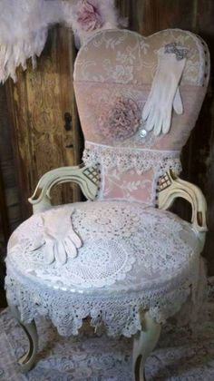 The ultimate heart shaped & lace chair ~ sweet~❥