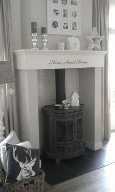 Xmas stars @ home fireplace by Tamara Jonker