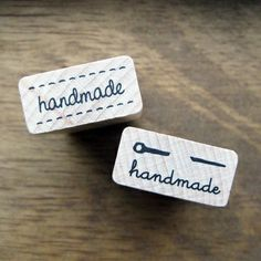 A cute craft wooden rubber stamp - one with stitch pattern on top and bottom and the other with a sewing needle. Great for handmade crafty projects!2.6cm x 1.3cm(1.02in x .51in) $6.00