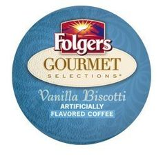 FOLGERS GOURMET SELECTIONS VANILLA BISCOTTI COFFEE 120 K CUPS ^^ You can get more details here : K Cups