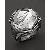 Ippolita Wicked Black Rhodium Sterling Silver Large Stone Ring in Clear Quartz with Diamonds@ Bloomingdales