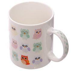 Lauren Billingham Dotty Owls Bone China Mug In Presentati…