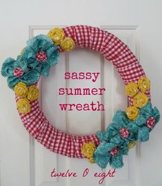 dollar tree ideas for wreaths in summer