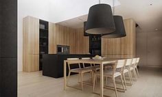 Wood Interior Paneling P-house by Tamizo Architects Group
