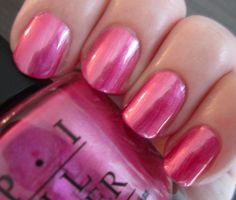 Color pink OPI A-Rose At Dawn.Broke by Noon is a pretty berry-pink metallic frost. OPI A-Rose At Dawn.Broke by Noon is a pretty berry-pink metallic frost. This color is pretty but I think it would look better with a shimme. Opi Nail Polish, Nail Polish Designs, Nail Polish Colors, Nail Polishes, Rose Nails, Pink Nails, Hair And Nails, My Nails, Pink Nail Colors