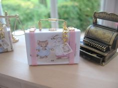 dollhouse beatrix potter suitcase tom kitten 12th scale miniature display by Rainbowminiatures on Etsy