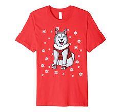Siberian Husky Christmas Holiday Gift Idea T-Shirt Husky Cross Breeds, Pet Fashion, Christmas Animals, Christmas Holiday, Pets, Gift, Mens Tops, T Shirt, Clothes