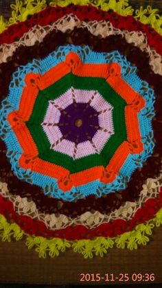 My new crochet doily Ouma Devi