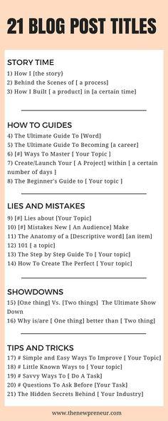 21 eye catching blog post titles - Here are 21 different titles you can use for improving your blog content, increase your traffic, and more. This also includes a free workbook you can use as a guide. Clique aqui http://www.estrategiadigital.pt/e-book-gratuito-ferramentas-para-websites/ e faça agora mesmo Download do nosso E-Book Gratuito sobre FERRAMENTAS PARA WEBSITES
