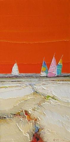 lumiere d'un jour - Painting, cm par Christian Eurgal - Peinture Plus Abstract Landscape, Landscape Paintings, Abstract Art, Texture Art, Beach Art, Acrylic Art, Art World, Painting Inspiration, Art Projects