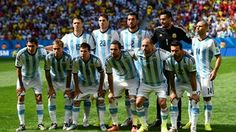 Argentina #ARG players line up for the team photos prior to the 2014 FIFA #WorldCup Brazil