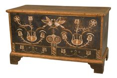 We are specialists in Southern decorativeand folk art; American and European glass and lighting; textiles, costumes, and antique sewing accoutrements; Furniture, Blanket Chest, Painted Furniture, American Furniture, Blanket Box, Southern Furniture, Country Furniture, Iron Hinges, Wood Boxes