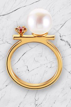 Bead Rhinestone Ring ==