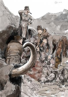 How to butcher a Woolly Mammoth by Tom Björklund