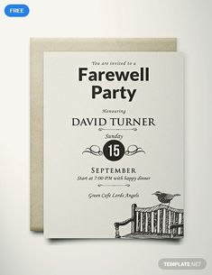 14 Best Farewell Invitation Card Templates Designs Images