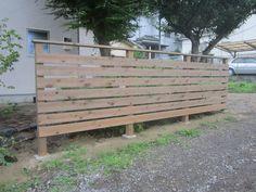 地産地消で、県内産ヒノキを使ったウッドフェンス 神奈川県相模原市Y様邸1