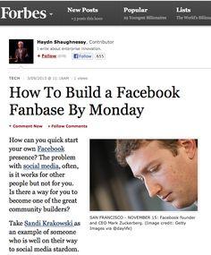 @Sandra Stone Krakowski - Featured in Forbes magazine For Facebook Marketing Expertise!