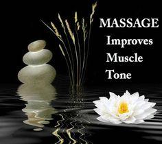Massage improves muscle tone
