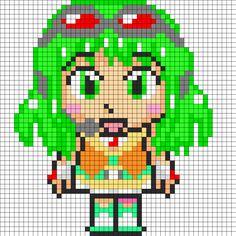 Gumi Vocaloid perler bead pattern