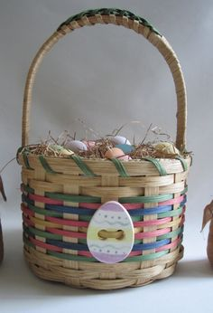 Easter Basket by JGBaskets on Etsy, $32.00