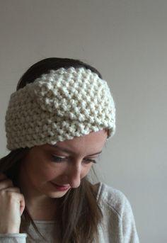 modern wrap headband / wool blend / chunky knit