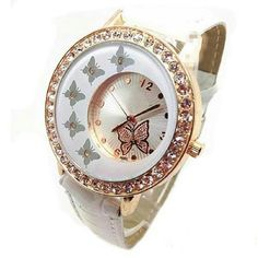 White Butterfly Gold Trim Watch Adult size new white butter fly gold plated trim watch with days leather strap...See all items for sale we have the latest in fashion clothing, swimsuits, jewelry, sunglasses, makeup and more! Follow us to stay with the latest fashions daily!  #flawlessfashions04 If you love these brands you will love ours too! Miss Me? MacToo faced? Lorac? Urban decay? Anastasia kylie jenner? Smashbox milani Matte Louis Vitton? cover girl Coach Michael Kors Gucci Rima Imar…
