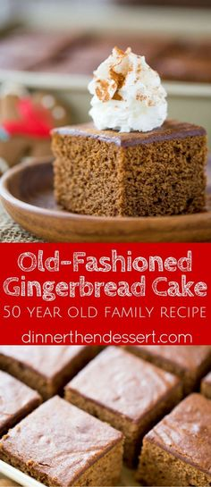 Classic Gingerbread Cake with a rich molasses, cinnamon and ginger flavor is fuss free and the perfect holiday breakfast. Also works great as part of your dessert table.