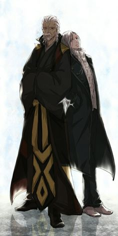 Gold King and Silver King from K - project anime