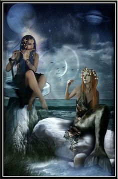 According to myth, they lure sailors by singing and with lovely music. They live in a kingdom on the bottom of the sea, and it is here they take their prisoners to. From this story, the fear amongst the sailor grew and they thought that seeing a mermaid would cause bad luck: it could predict death by drowning.
