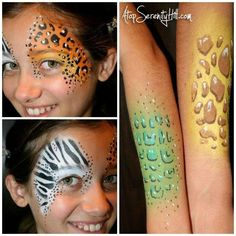 Easy face painting with stencils « Atop Serenity Hill @Plaid Crafts #facepainting #howtofacepaint