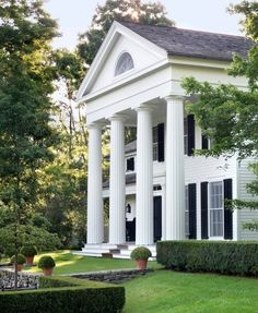 CURB APPEAL – another great example of beautiful design. Greek revival style by Gil Schafer, Architect.