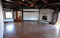 Cosy: The ground floor of Jackson's former two-story bedroom (pictured 2009) includes a fi...