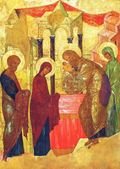 The icon of The Entrance of Our Lord Christ into the Temple, by the hand of St. Andrei Rublev