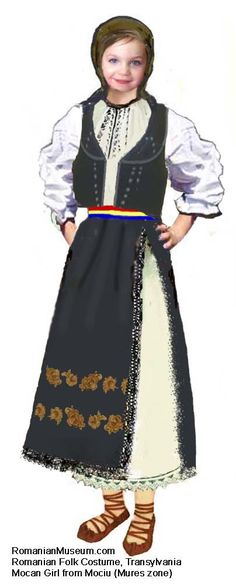 mocan Fata Mociu 1 Decembrie, Victorian, Costumes, Popular, Traditional, Folklore, Blouse, Europe, Dresses