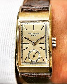 Vintage Patek Philippe circa 1951.  #patekphilippe #vintagepatek #vintagewatches #wristwatch #menswatch #mensfashion #watchshot #watchlover #watchshot #instagram #instawatch #watchoftheday #watchcollection #watchcommunity #squarewatch #luxurywatch #seregins #sanfrancisco #watches #watchesofinstagram #goldwatch
